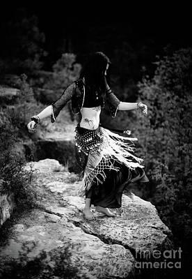Photograph - Bw Cliff Belly Dance by Scott Sawyer