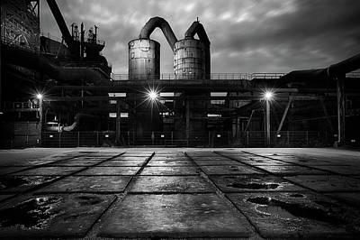 Photograph - Bw Landschaftspark Duisburg- Nord by Dirk Ercken