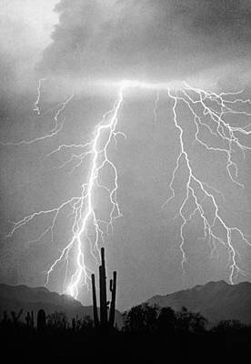 Lightning Photograph - Bw Lightning From Heaven by James BO  Insogna