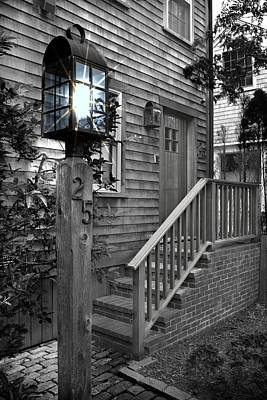 Photograph - Front Porch - Bw Series 2 by Carlos Diaz