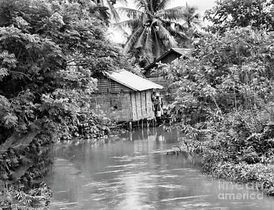 Bw Tonle Sap Home Art Print by Chuck Kuhn