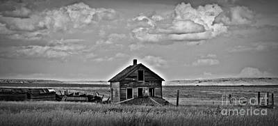 Bw Vananda Homestead Art Print by Chalet Roome-Rigdon