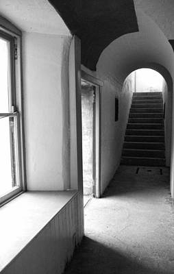 Photograph - Historic Hallway - Bw by Marilyn Wilson