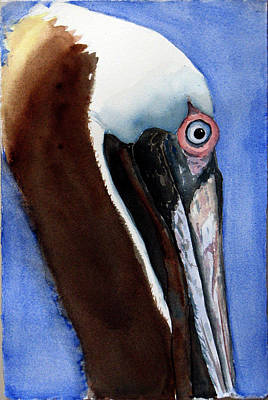Painting - Bwon Pelican Eye by Libby  Cagle