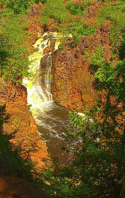 Photograph - Brownstone Falls, Morse, Wi by Jeff Kurtz