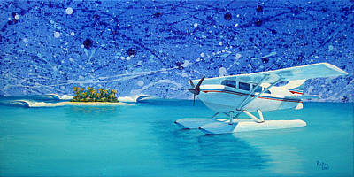 Plane Painting - By Air by Patrick Parker