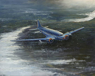 Airways Painting - By Dawn by Andrew Tucker