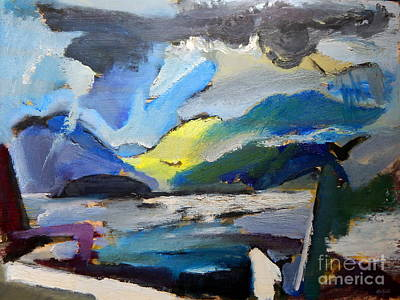 Painting - By Edgar A.batzell Lakeview by Expressionistart studio Priscilla Batzell