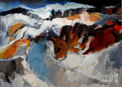 Painting - By Edgar A.batzell Storm Sea by Expressionistart studio Priscilla Batzell
