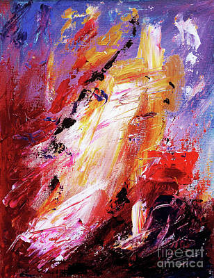 Abstract Forms Painting - By Herself 3 by Jasna Dragun