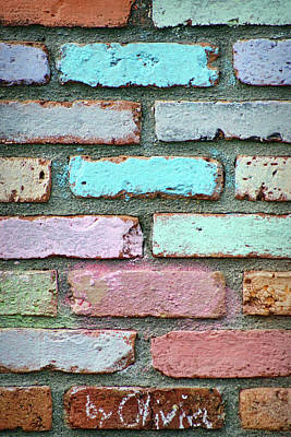 Photograph - By Olivia - Bricks by Nikolyn McDonald