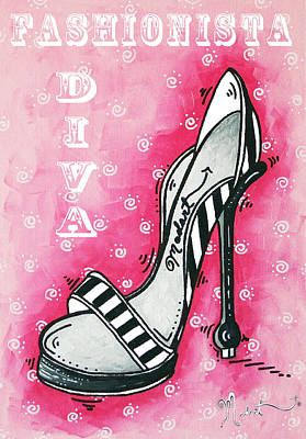 Stilettos Painting - By Pink Design By Madart by Megan Duncanson