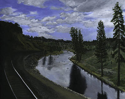 Painting - By Rail by Sara Stevenson