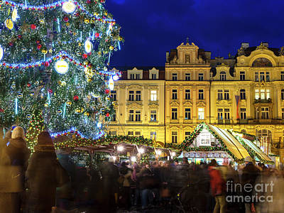 Photograph - By The Christmas Tree Prague by John Rizzuto