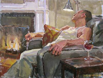 By The Fireside Original by David Tanner
