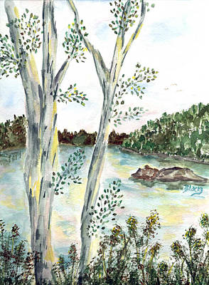 Painting - By The Lake by Donna Blackhall