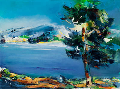 Rocky Mountain National Park Painting - By The Lake by Elise Palmigiani