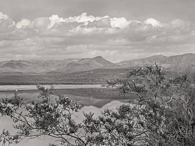 Verde River Photograph - By The Lake Monochrome by Gordon Beck