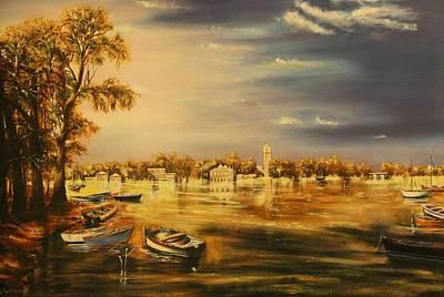 By The Lake Art Print by Nidhi Bhatia