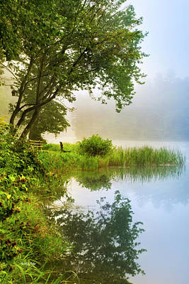 Country Scene Photograph - By The Lake Sunrise Landscape by Christina Rollo