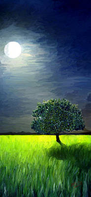 Painting - By The Light Of The Moon by James Shepherd