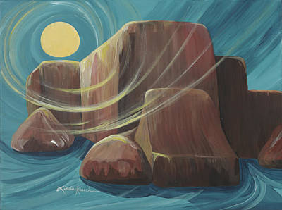 By The Light Of The Moon Art Print by Linda Rauch
