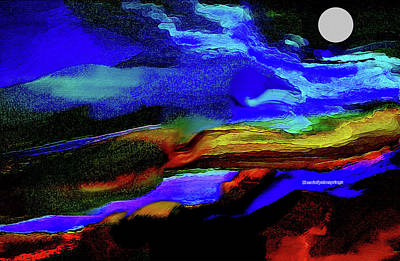 Digital Art - By The Light Of The Silvery Moon by Sherri's - Of Palm Springs
