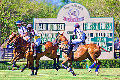 Photograph - By The Polo Score Board by Alice Gipson