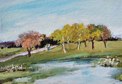 Painting - By The Pond by Diane Ursin