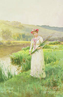 Painting - By The River by Alfred Glendening Jr