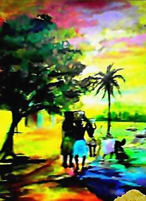 Painting - By The Riverside by Wale Adeoye