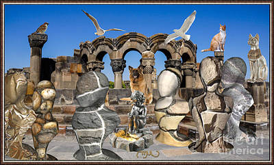 By The Ruins Art Print