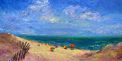 Painting - By The Sea by Laurie Samara-Schlageter