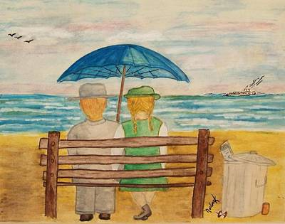 Painting - By The Sea by Thomas J Norbeck