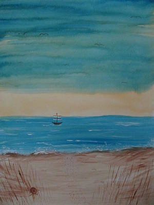 Painting - By The Seaside, By The Beautiful Sea by Sharyn Winters