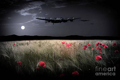 Bomber Command Photograph - By The Silver Light by J Biggadike