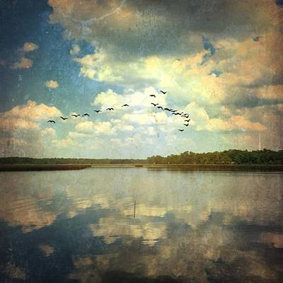 By The Still Waters... Created With Art Print