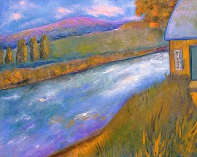 Geographic Painting - By The Stream by Marla McPherson