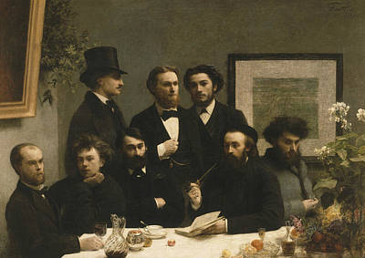 Painting - By The Table by Henri Fantin-Latou