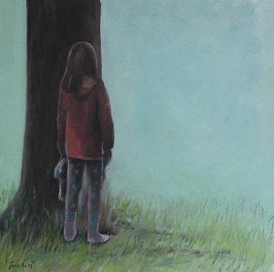 Painting - By The Tree by Tone Aanderaa