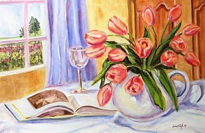 By The Window Art Print by Jean Costa