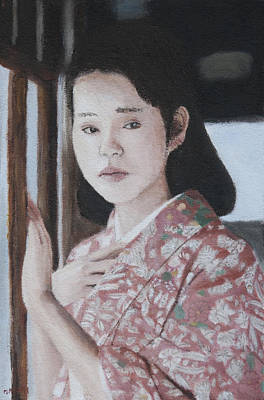 Painting - By Window by Masami Iida