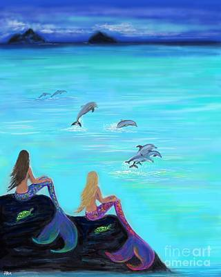 Painting - By Your Side High Tide Low Tide by Leslie Allen
