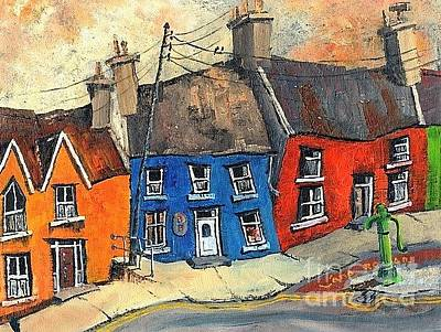Painting -  Bicycle Lane In Eyeries, Beara by Val Byrne