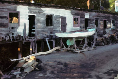 Bygone Boatyard Art Print