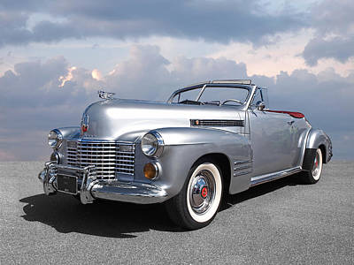Custom Grill Photograph - Bygone Era - 1941 Cadillac Convertible by Gill Billington