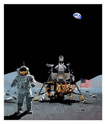 Mankind's Greatest Endeavor  Art Print by Joe Roselle