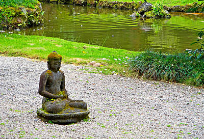 Photograph - Byodo-in Temple Grounds Study 2 by Robert Meyers-Lussier