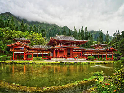 Wall Art - Photograph - Byodo-in Temple In The Valley Of The Temples by Martin Belan