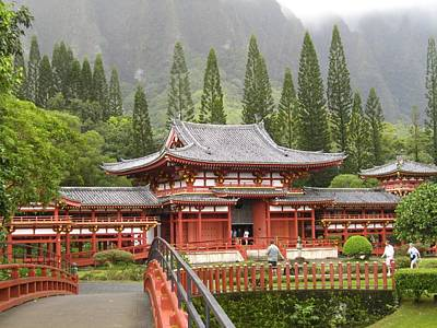 Wall Art - Photograph - Byodo-in Temple by Lucy Moorman